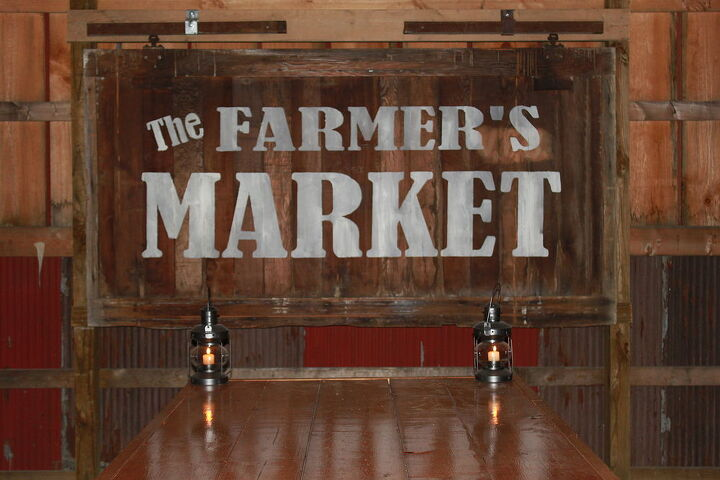 How to make vintage signs from pallets or barn wood on the for Where can i buy old barn wood