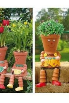 garden decor and fun in the garden, home decor, outdoor living, More awesome uses for those pottery pots
