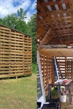 recycled pallets, outdoor living, pallet