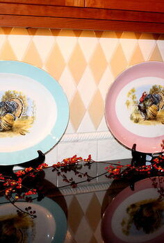 thanksgiving decorating, seasonal holiday d cor, thanksgiving decorations, Vintage turkey platters