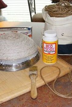 how to make a bowl from jute rope, crafts, decoupage, Every thing here you need
