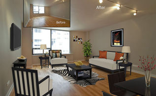 virtual staging before after photo of the week chicago condo, home decor, living room ideas, real estate, Living room photo in Chicago condo Photo courtesy of VSP