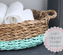 paint dipped basket, crafts, home decor, painting