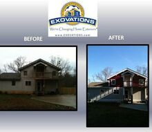 before and after, curb appeal, painting