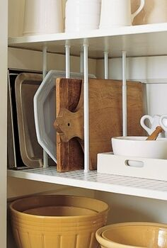 easy and inexpensive way to store those bulky platters and, storage ideas, urban living