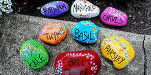 more garden art projects for 20 or less gift ideas, crafts, flowers, gardening, repurposing upcycling, Painted rock plant markers