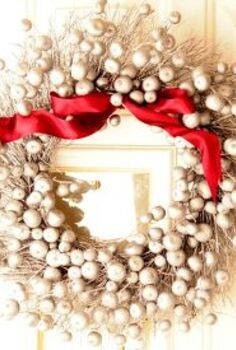 turn a fall clearance wreath into a christmas wreath, christmas decorations, crafts, seasonal holiday decor, Who doesn t love a bargain Instantly give an item a makeover with a little spray paint