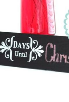 diy chalkboard countdown sign, chalk paint, chalkboard paint, painting