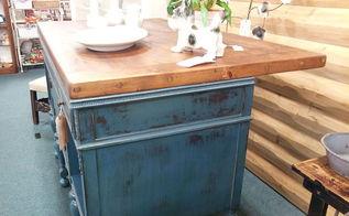 vintique junktion vintage buffet to kitchen island wine bar, painted furniture