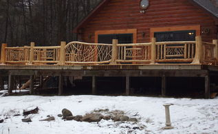 cedar log and twig work for a nice home on lake george in upstate ny i love this, decks, outdoor living, woodworking projects