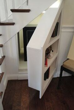 7 stunning under stairs storage ideas, home decor, shelving ideas, stairs, storage ideas, why not use your under the stair storage for storage and a hidden panic room
