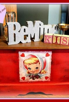 cute little vintage valentines box, home decor, painted furniture