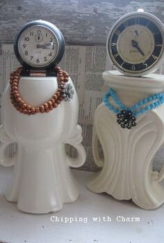chipped vases re purposed into quirky clock ladies, crafts, repurposing upcycling