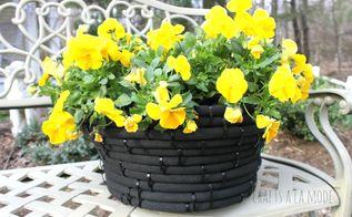 diy make a pot out of a garden hose, crafts, flowers, gardening, repurposing upcycling