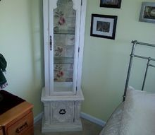 curio cabinet refinished refined, painted furniture, 2
