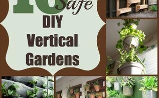 10 diy vertical garden ideas, diy, gardening, Choose safe materials if you plan to grow an edible vertical garden