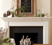 1 mantel 6 ways, home decor, Earthy Mantel