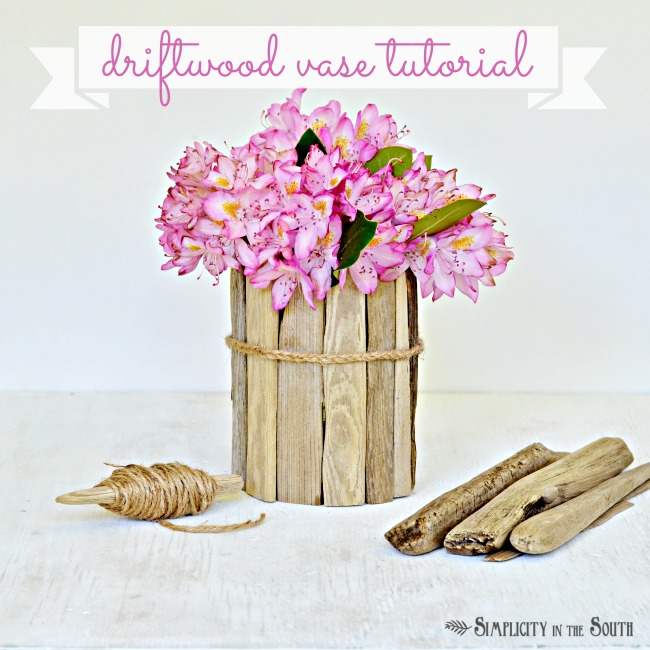 Diy coastal decor how to make a driftwood vase hometalk for How to work with driftwood