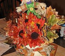 quick thanksgiving centerpiece fall floor decoration, seasonal holiday d cor, thanksgiving decorations