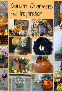 fall and halloween inspiration round up from the garden charmers, gardening, halloween decorations, repurposing upcycling, seasonal holiday d cor, wreaths, Some of the projects featured in the round up