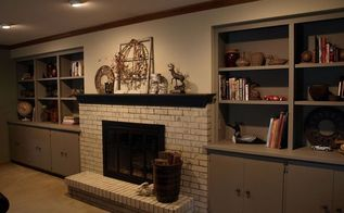painting a brick fireplace with chalk paint, concrete masonry, fireplaces mantels, home decor, painting, The after