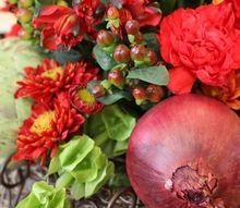 thanksgiving centerpiece, flowers, home decor, seasonal holiday decor, thanksgiving decorations, Thanksgiving Centerpiece pairing flowers and vegetables