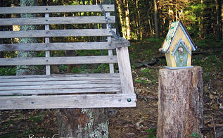 an easy outdoor sitting area, outdoor living, repurposing upcycling