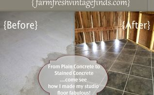 how to stain concrete part 2, concrete masonry, diy, flooring, painting, tile flooring
