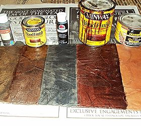 How To Create A Faux Leather Finish Using Brown Paper, Painted Furniture,  Repurposing Upcycling