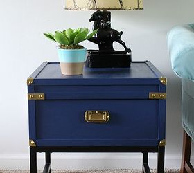 Nice Habitat Restore Table Turned Campaign Table, Painted Furniture, After Royal  Blue Campaign Style Table