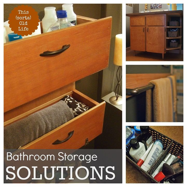 Small bathroom storage solutions hometalk for Compact bathroom solutions