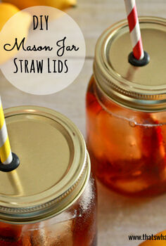 make your own mason jar straw lids, crafts, mason jars, Make your own Mason Jar Straw Lids Perfect for keeping the bugs out of your beverages this summer