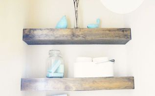 diy floating shelves, crafts, home decor, shelving ideas, woodworking projects