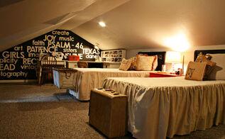 teen girls attic room makeover, bedroom ideas, home decor