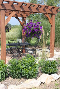 how our farm s little pergola was built, outdoor living, woodworking projects, The Upper Pergola That Helped Build Our Little Farm