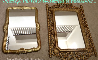 flea market mirrors makeover before amp after, painting