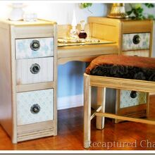 gold vanity, painted furniture