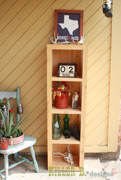 rustic bookcase from cedar fence pickets, diy, how to, painted furniture, rustic furniture, woodworking projects