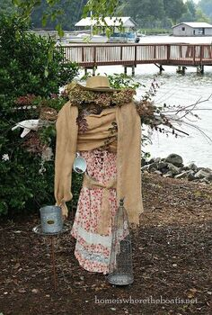 scarecrow from a garden trellis, gardening, outdoor living, repurposing upcycling