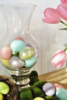 my pottery barn inspired spring vase and it s free, home decor, seasonal holiday decor