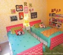 stencil and pattern ideas for girl s bedrooms, bedroom ideas, painting, Royal Design Studio fan Haneen Boraby Matt used our Skylar s Lace in her daughters bedroom with bright pops of color
