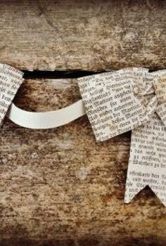 book page bows, crafts, repurposing upcycling