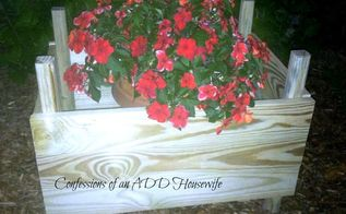 diy planter box, diy, gardening, woodworking projects, all done with the planter box