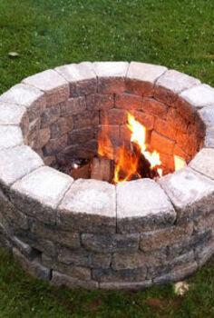 diy firepit, diy, outdoor living, Simple DIY Firepit