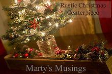 rustic christmas centerpiece, christmas decorations, repurposing upcycling, seasonal holiday decor, Lighted mini Christmas tree