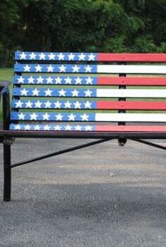 labor day bench redo, painted furniture