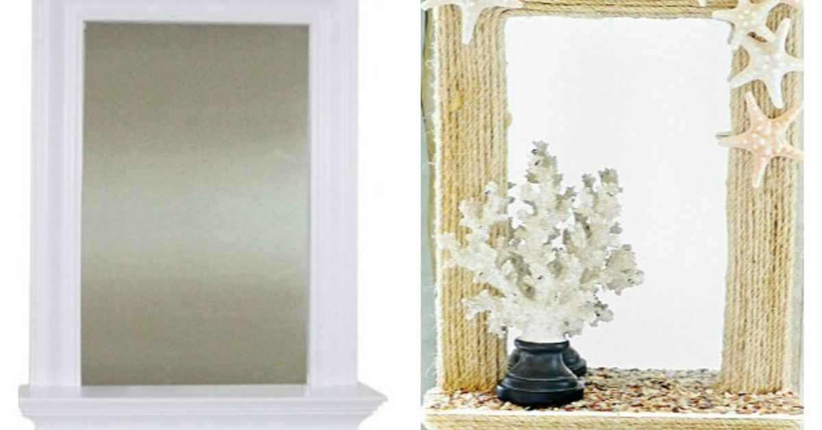 Diy Coastal Rope Mirror Makeover Hometalk