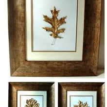 bring the outdoors in gold leaf leaves, crafts, Bring a little of the outdoors inside your home with this clever gold leaf tutorial