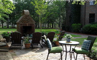 my pool and front yard outdoor living areas were all done on tight and real budgets, decks, fireplaces mantels, outdoor furniture, outdoor living, pool designs, I love creating little sitting areas