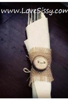 rustic napkin rings burlap amp tree branches, crafts